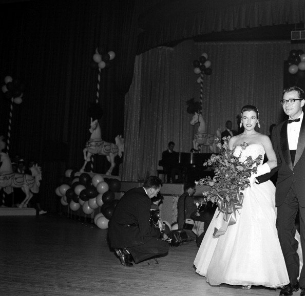 Photo of Richard Long and Mara Corday on their wedding day. | Photo: Getty Images