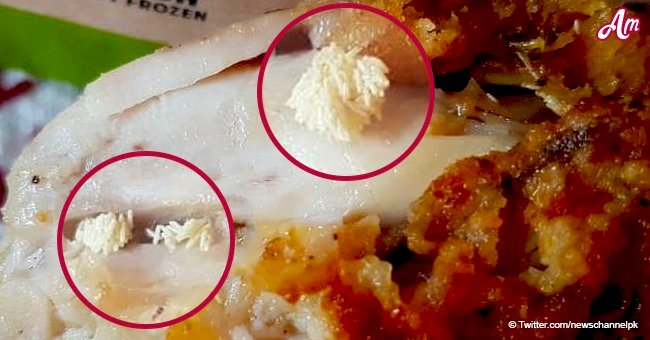 Outraged woman shares disgusting photo of maggots inside her KFC meal