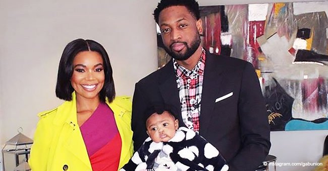 Gabrielle Union Warms Heart with New Picture of Little Kaavia Held by Dad in a Baby Carrier