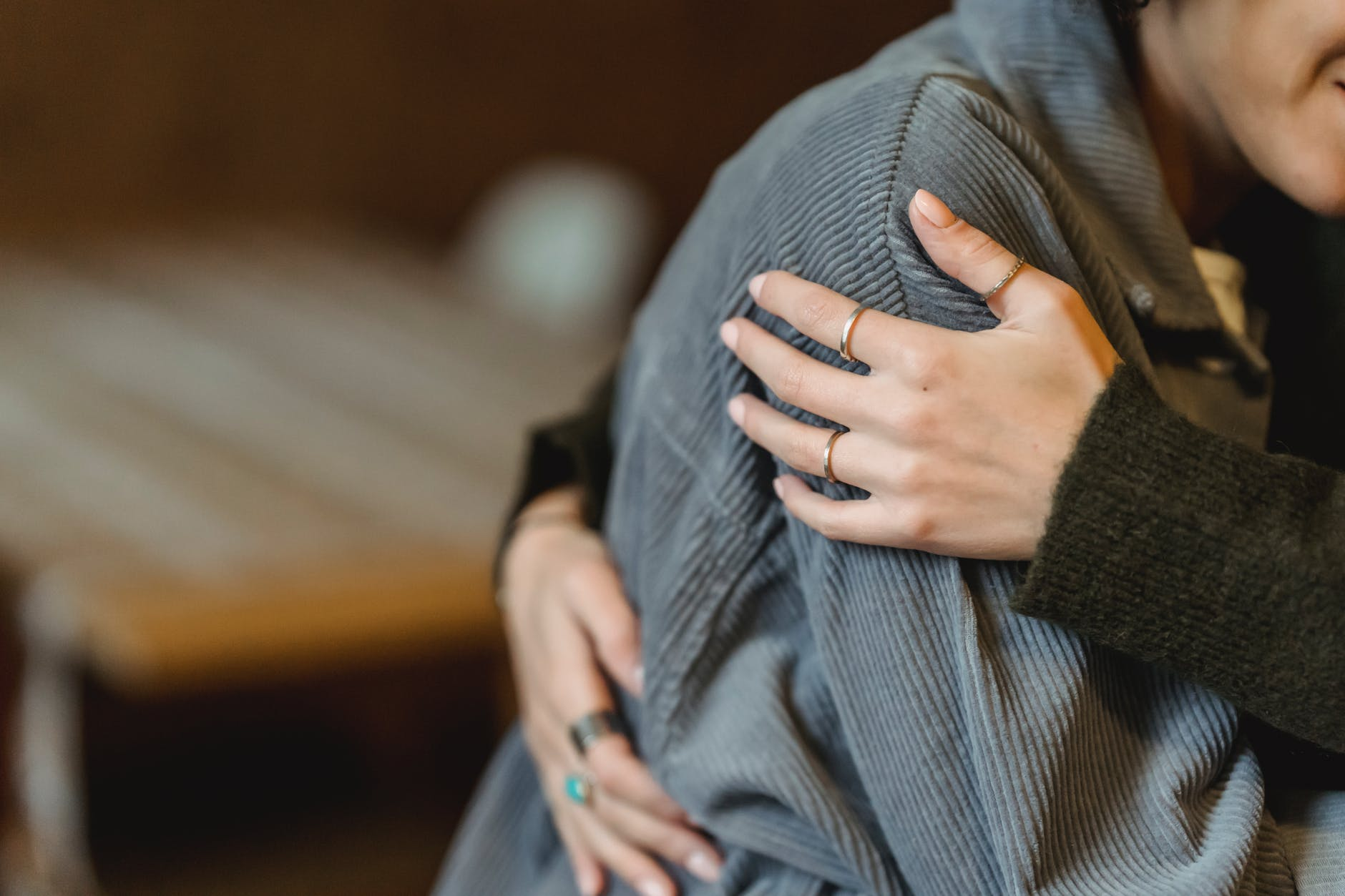 I comforted Emma after her miscarriage.   Source: Pexels