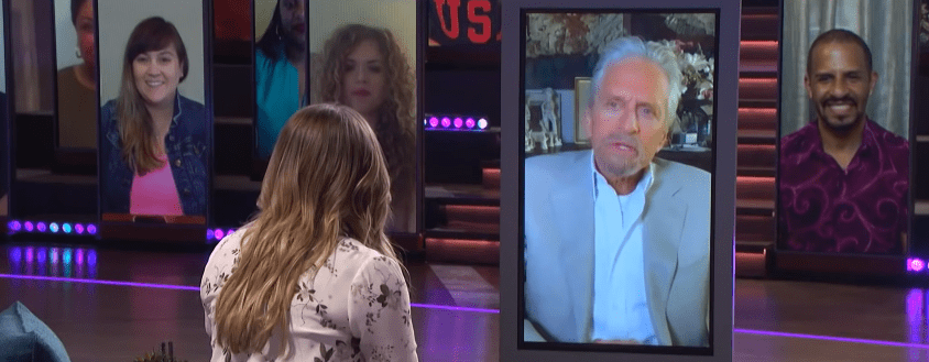 """Michael Douglas during a virtual appearance on the """" Kelly Clarkson Show"""" 