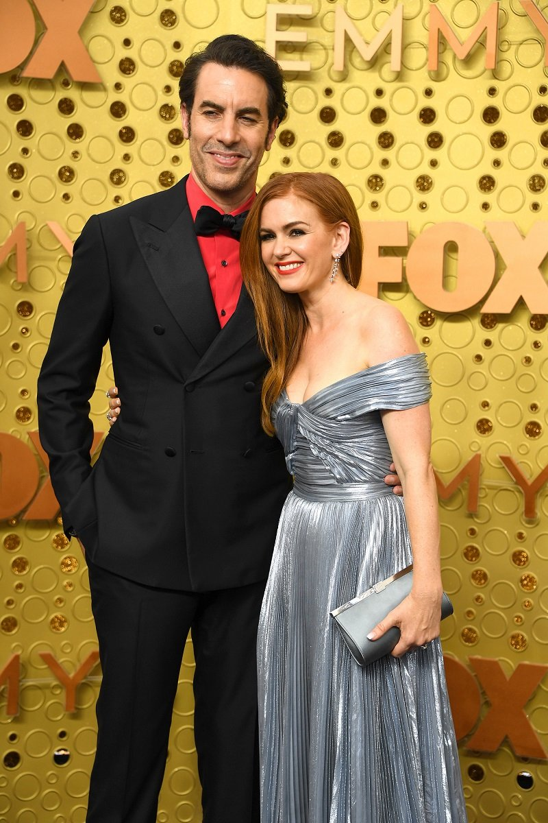 Sacha Baron Cohen and Isla Fisher on September 22, 2019 in Los Angeles, California   Photo: Getty Images