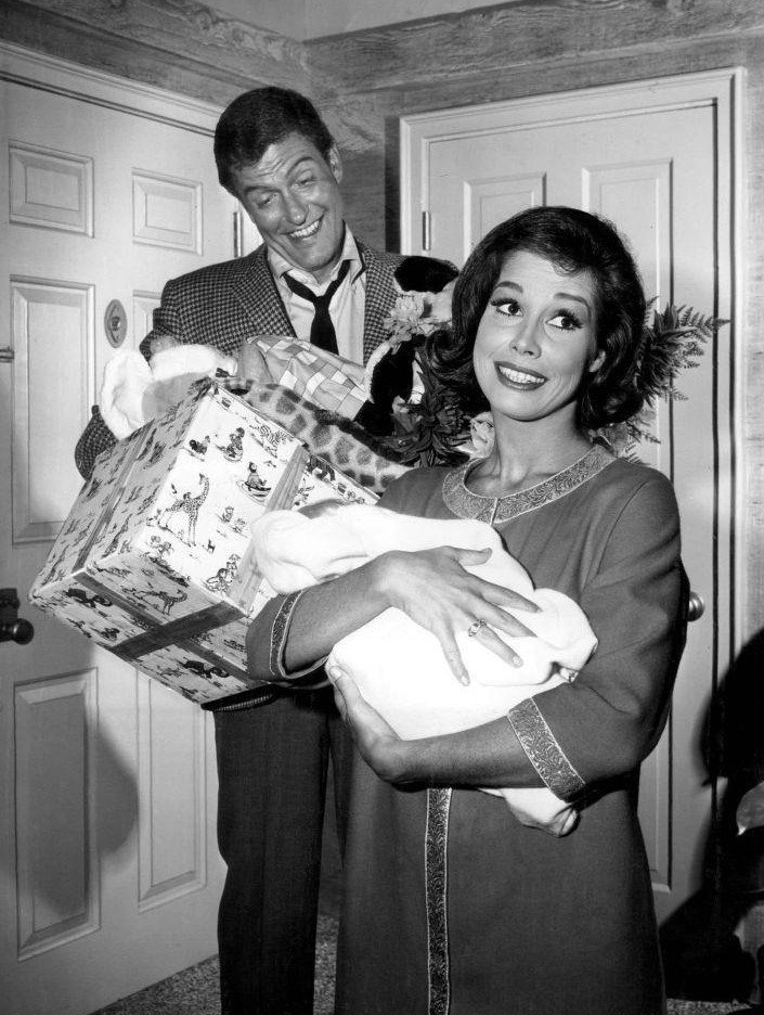 "Dick VanDyke and Mary Tyler Moore from the television program ""The Dick VanDyke Show."" 
