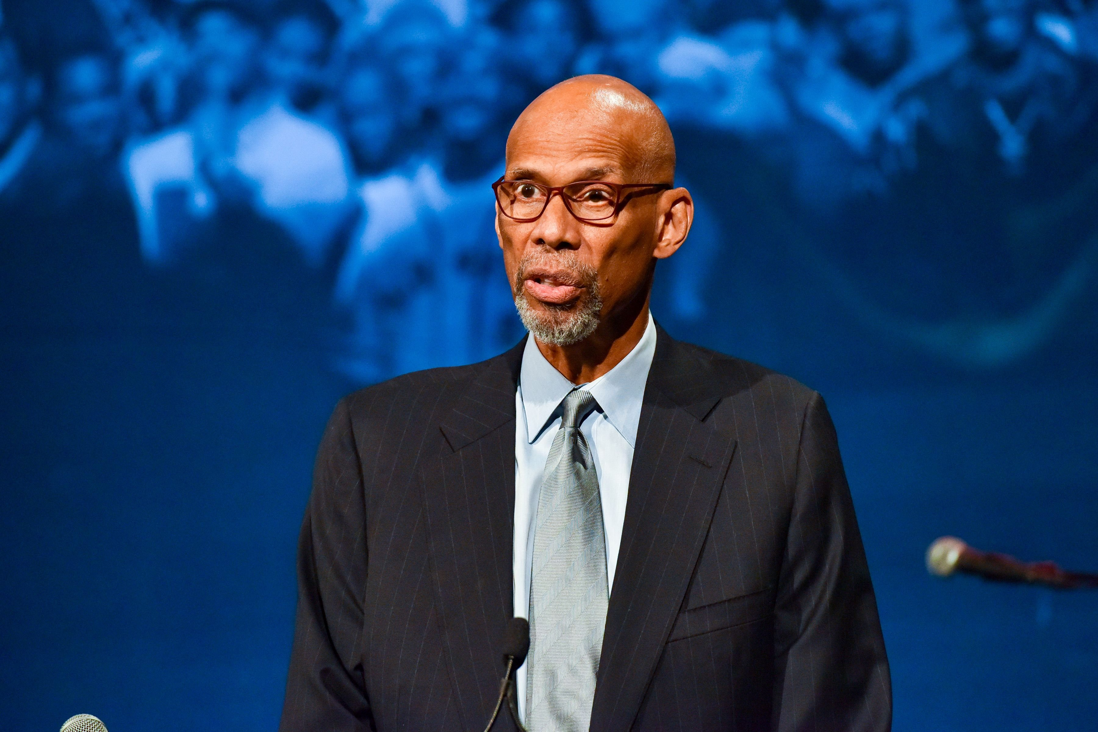 Kareem Abdul-Jabbar speaking at the The Gordon Parks Foundation 2019 Annual Awards in New York City | Source: Getty Images