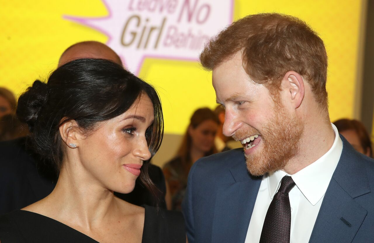 Meghan Markle and Prince Harry attend the Women's Empowerment reception hosted by Foreign Secretary Boris Johnson during the Commonwealth Heads of Government Meeting at the Royal Aeronautical Society in London, England | Photo: Getty Images