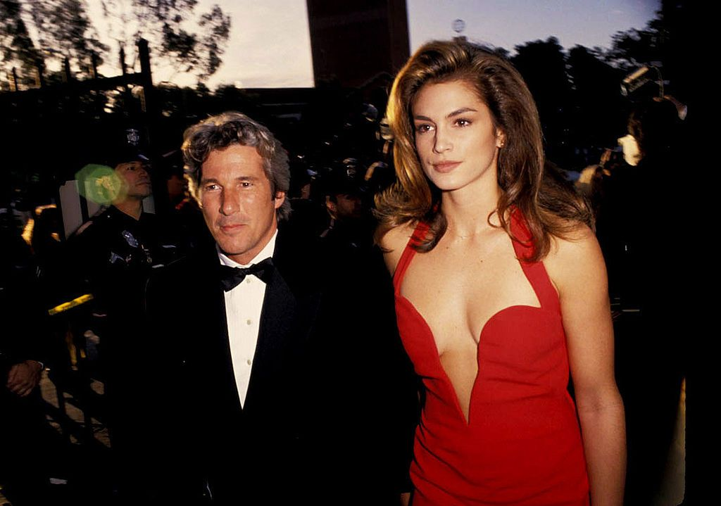 Cindy Crawford and Richard Gere at the 63rd Annual Academy Awards in 1991 in Los Angeles, California | Source: Getty Images