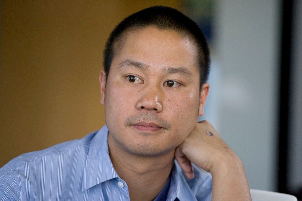 Tony Hsieh, former CEO of Zappos.com Inc., speaking during an interview in Los Angeles, California | Photo: Jonathan Alcorn/Bloomberg via Getty Images
