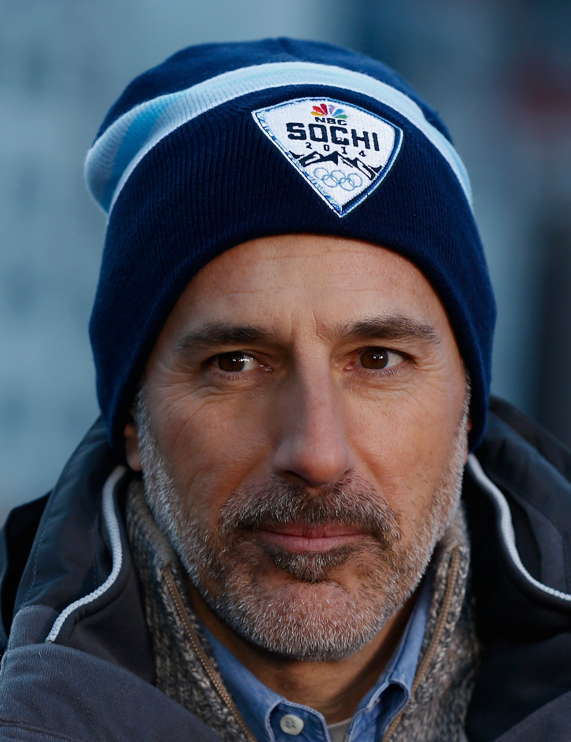 "Matt Lauer reports for the ""TODAY"" Show ahead of the 2014 Winter Olympics on February 6, 2014, in Sochi, Russia. 