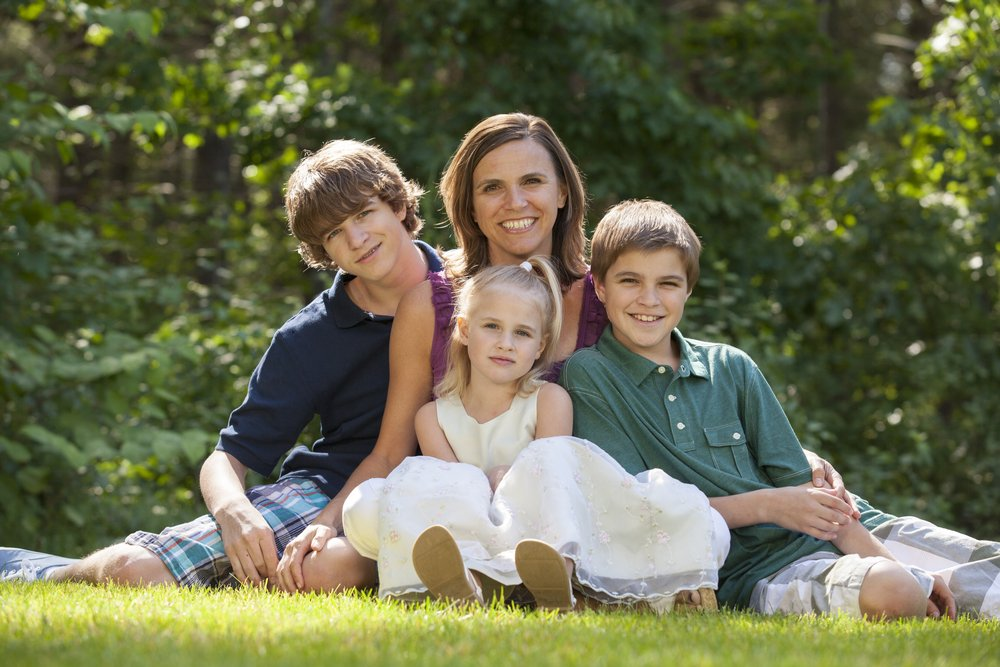 A photo of a single mother with three children.   Photo: Shutterstock