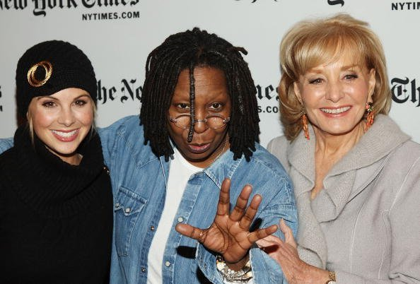 Elizabeth Hasselbeck, Whoopi Goldberg, and Barbara Walters attend the New York Times Art and Leisure Weekend at TheTimesCenter | Photo: Getty Images
