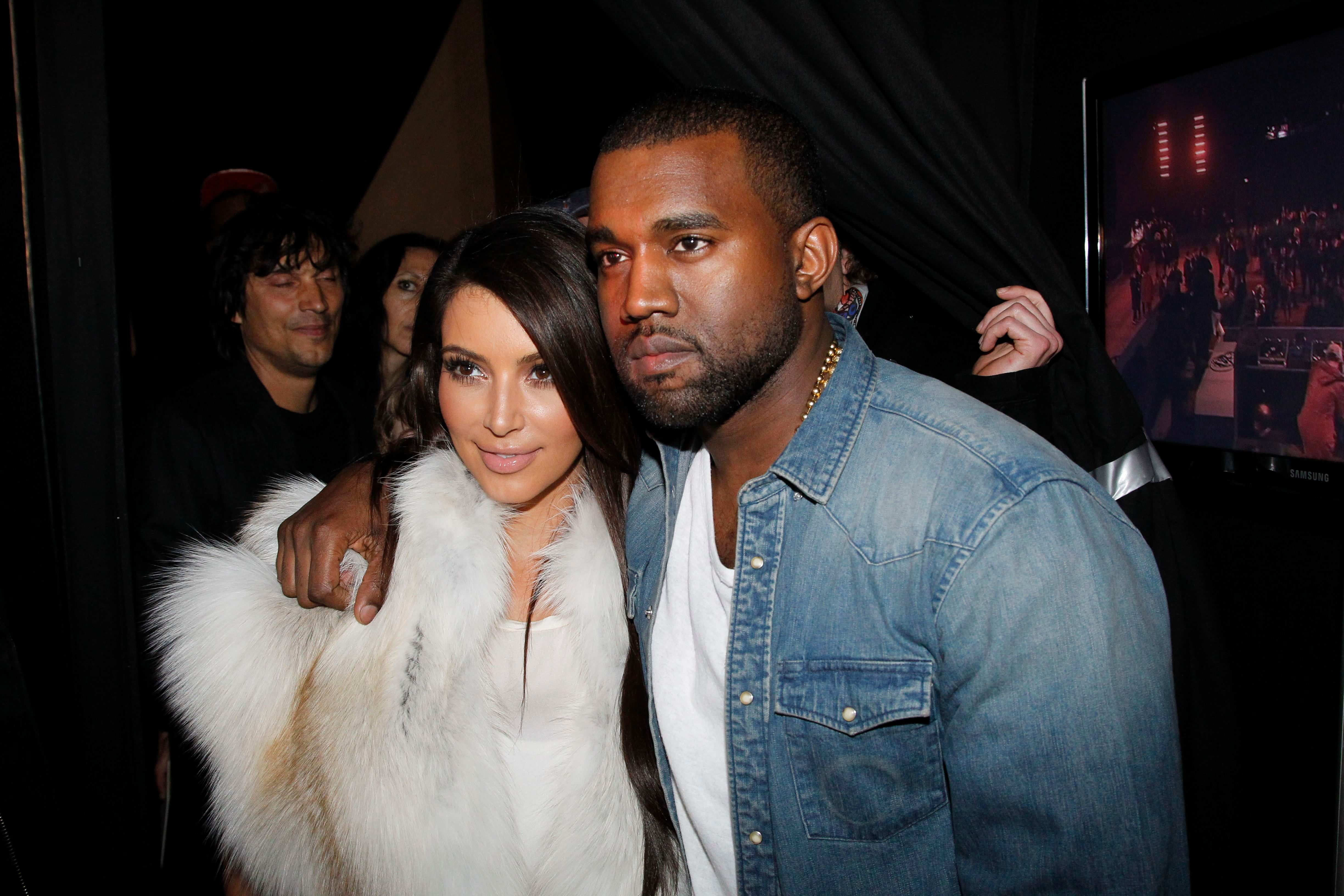 Kim Kardashian and Kanye West atthe Kanye West Ready-To-Wear Fall/Wintershow as part of Paris Fashion Weekon March 6, 2012, in Paris, France | Photo:Getty Images