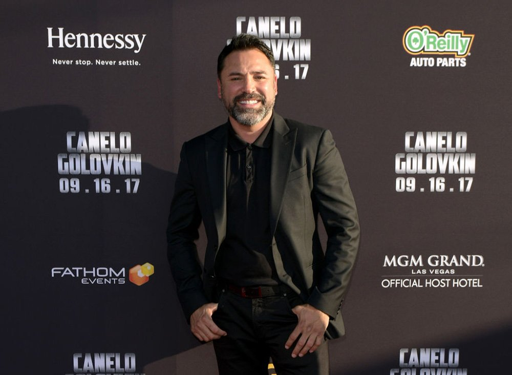 Oscar De La Hoya attends the Canelo Alvarez and Gennady Golovkin press tour at AVALON Hollywood on June 22, 2017 in Los Angeles, California. I Image: Getty Images.
