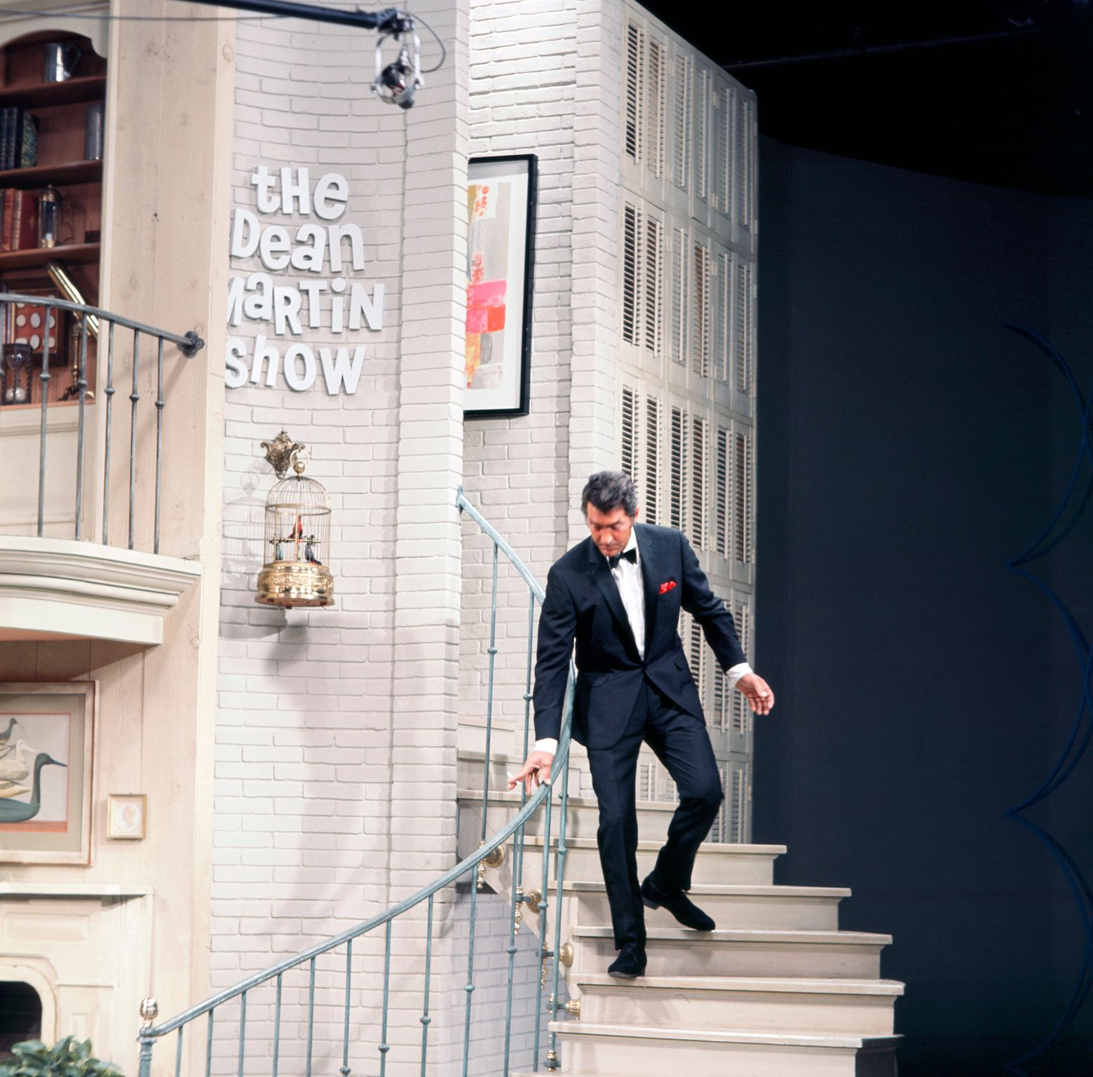 """Dean Martin on the set of """"The Dean Martin Show"""" circa 1970 