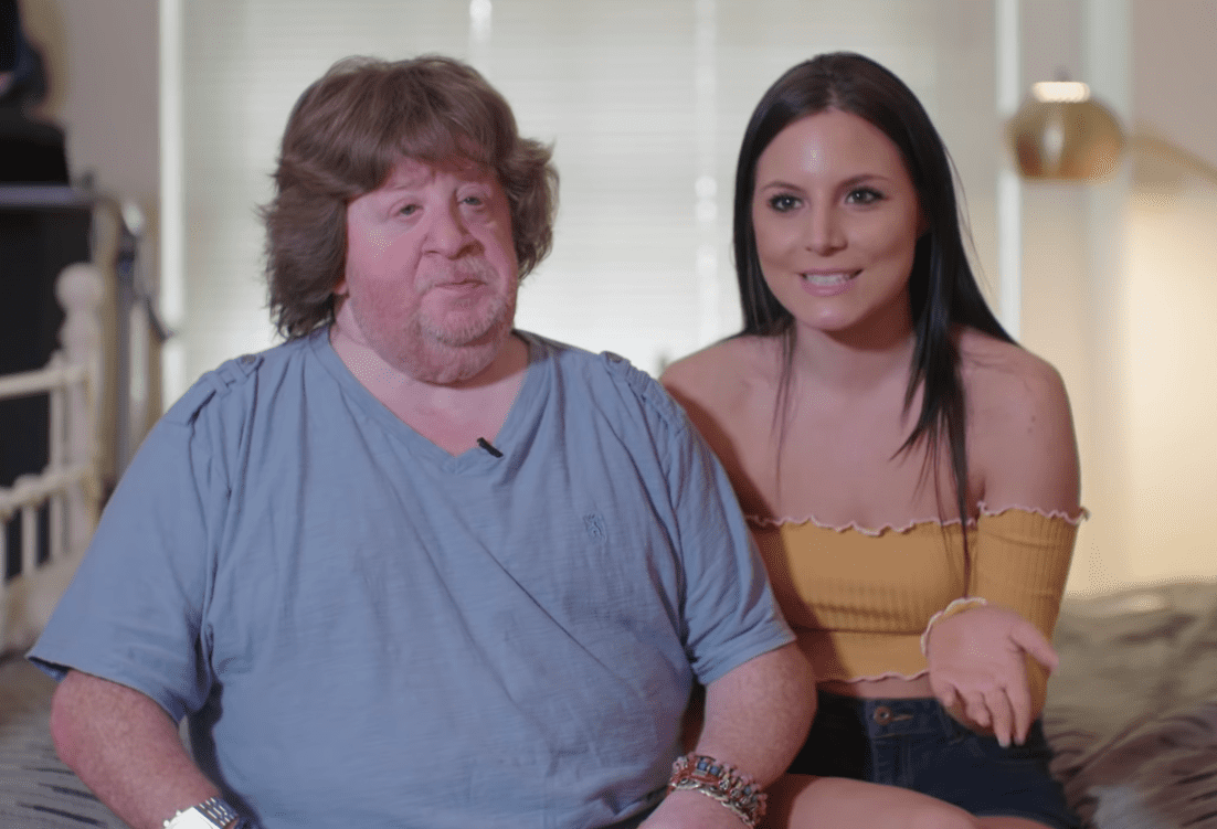 """Mason Reese and Sarah Russi during an interview with """"Love Don't Judge"""" 