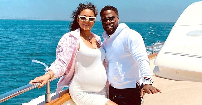Kevin Hart and Pregnant Wife Eniko Celebrate His 41st Birthday with Matching White Outfits in Sweet Couple Pics