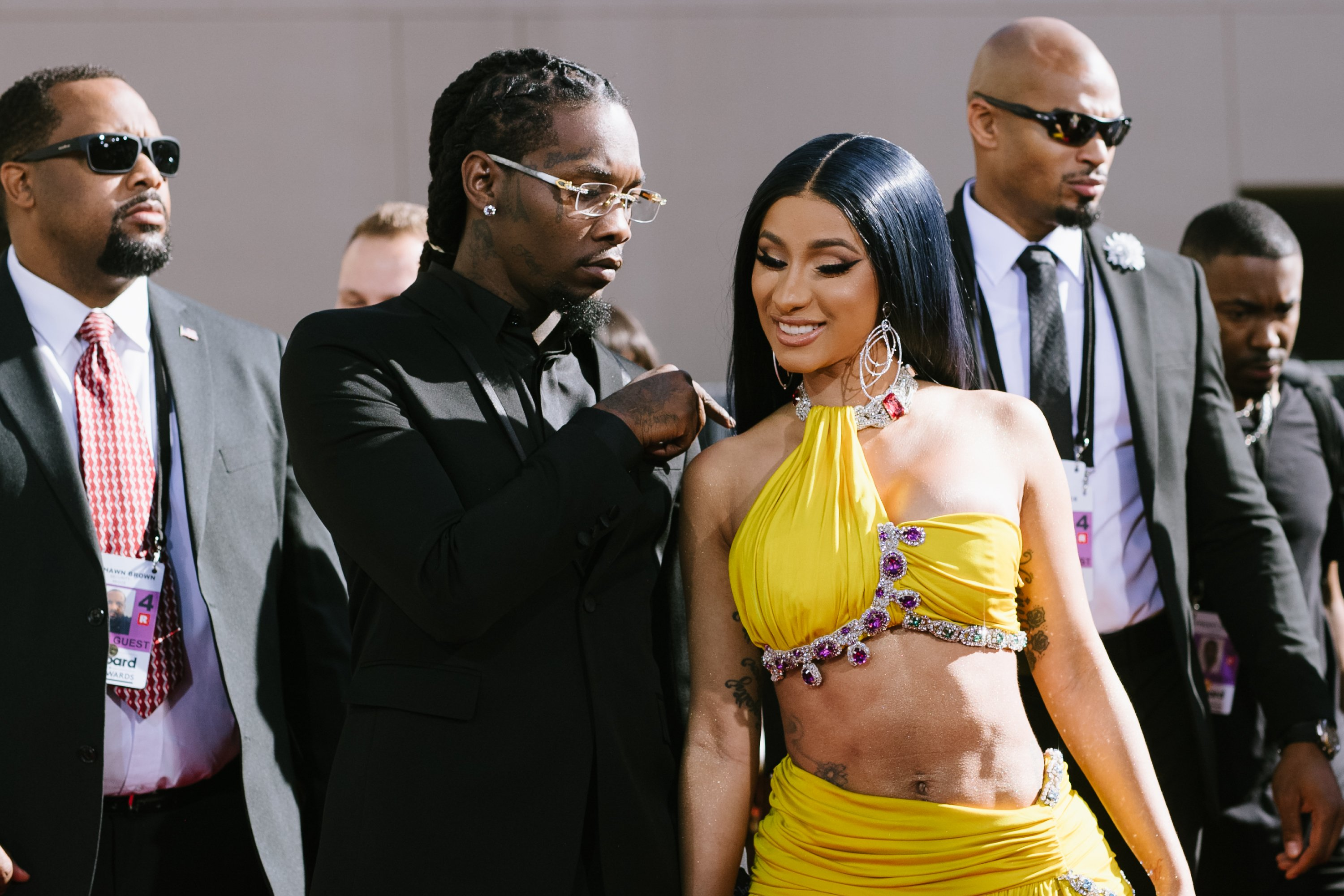 Offset and Cardi B arrive at the 2019 Billboard Music Awards.   Photo: GettyImages