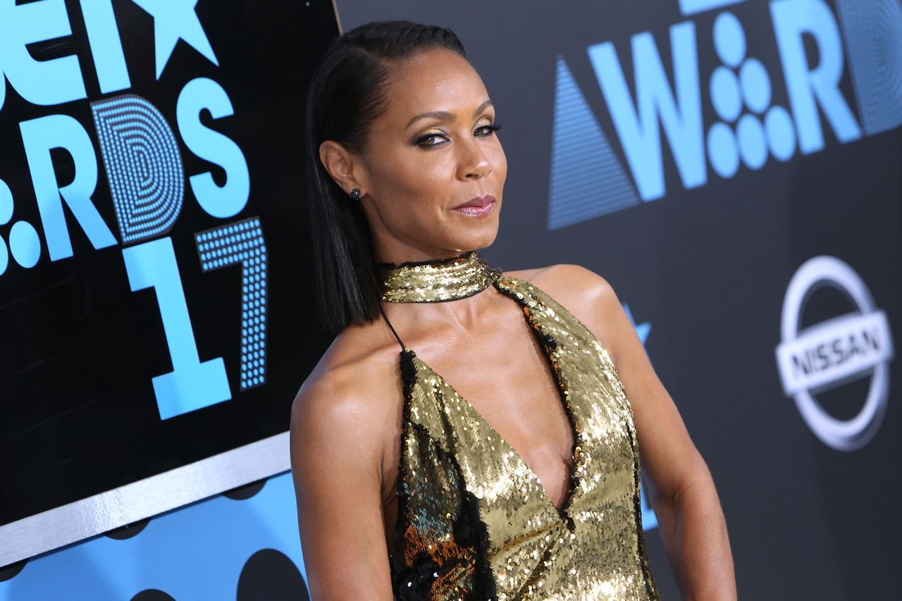 Jada Pinkett-Smith arrives at the 2017 BET Awards at Microsoft Theater on June 25, 2017 in Los Angeles, California. | Source: Getty Images