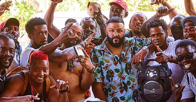 Dj Khaled Shares Photo of Himself Surrounded by Smiling Locals While in Jamaica