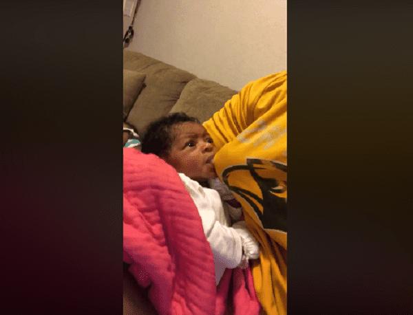 El padre se las ingenió para amamantar a su bebé-Imagen tomada de Facebook Allen Lamarr Fails Jr.