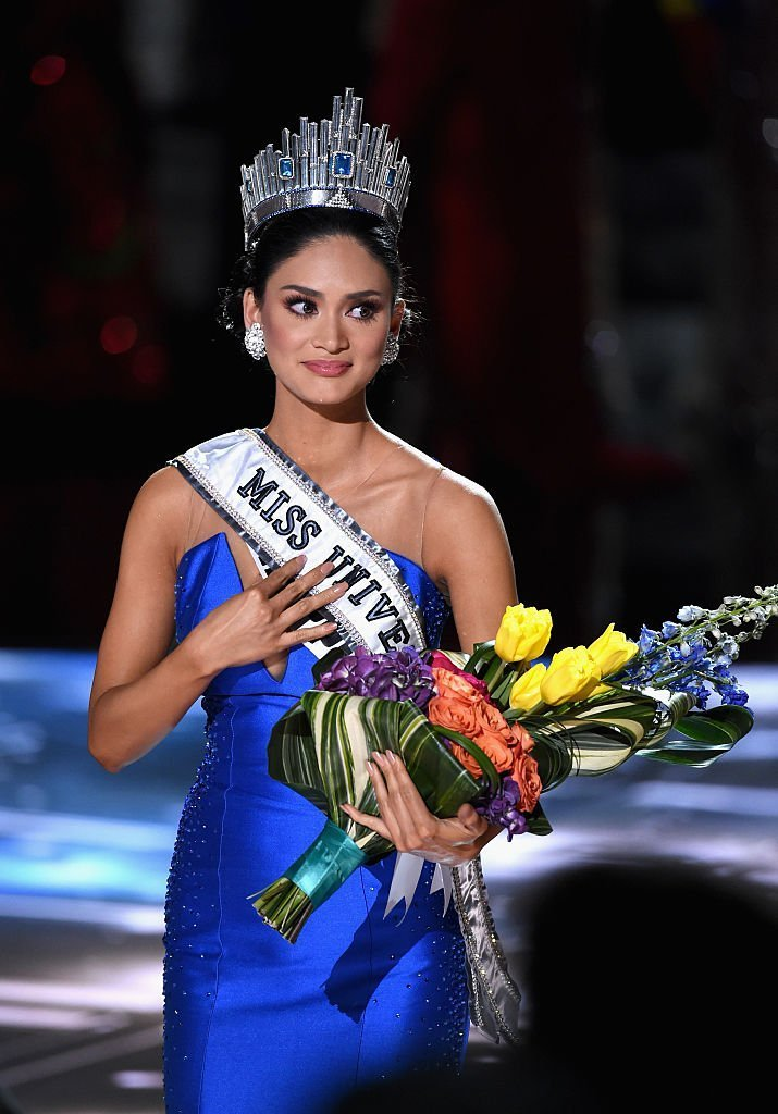 Miss Philippines 2015, Pia Alonzo Wurtzbach, who was mistakenly named as first runner-up, reacts as she is named the 2015 Miss Universe on December 20, 2015 in Las Vegas, Nevada. | Photo: GettyImages/Global Images of Ukraine