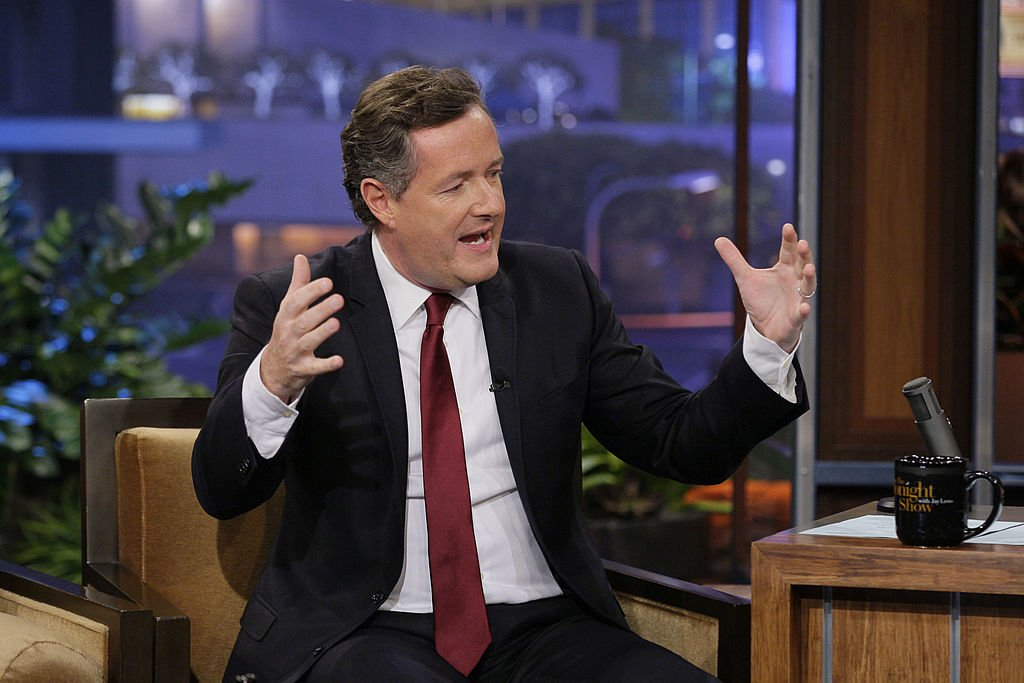 """Piers Morgan during an appear on the """"Late Night with Jimmy Fallon."""" 2012. 