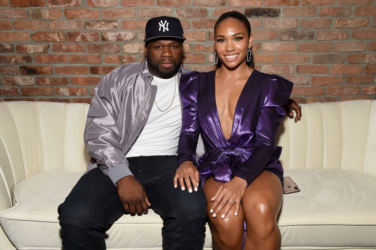 "Curtis ""50 Cent"" Jackson and Jamira at STARZ Madison Square Garden ""Power"" Season 6 Red Carpet Premiere on August 20, 2019. 