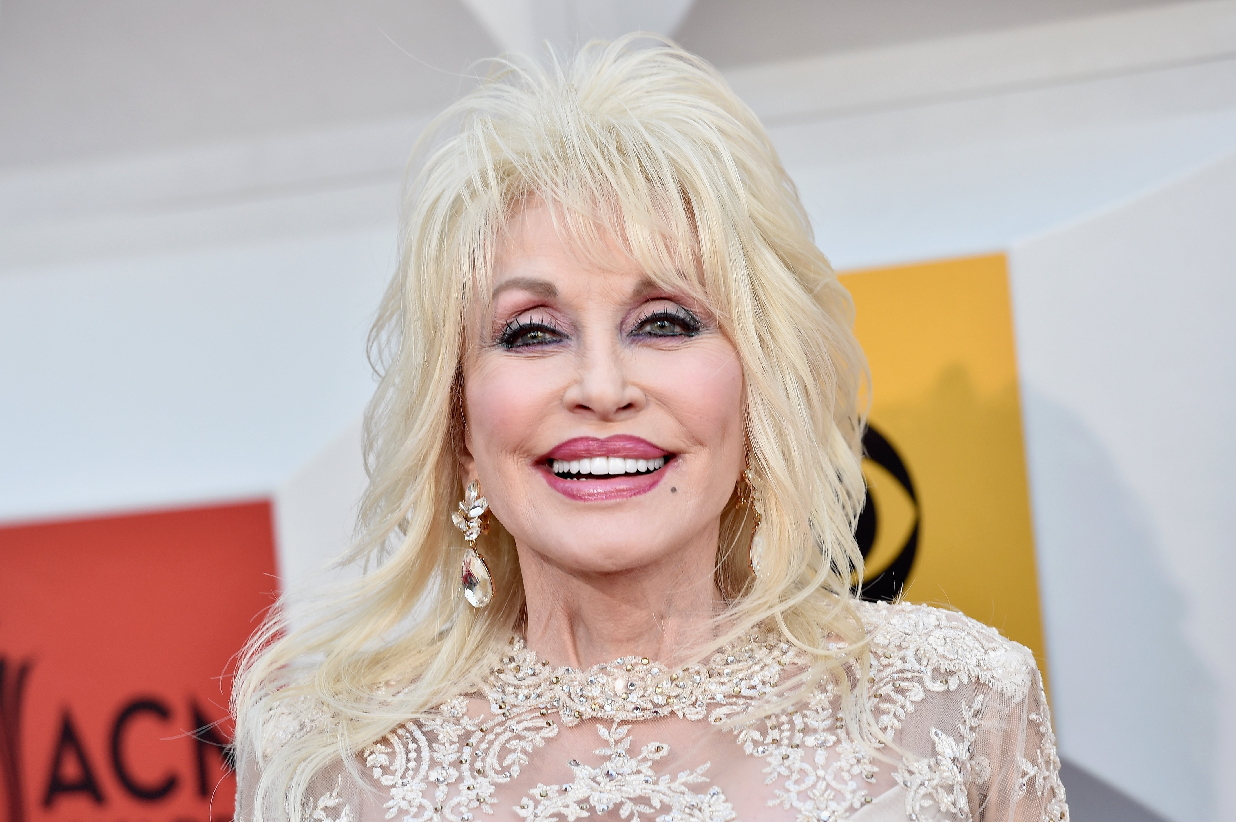 Dolly Parton at the ACM Awards on April 3, 2016 in Las Vegas, Nevada.   Photo: Getty Images