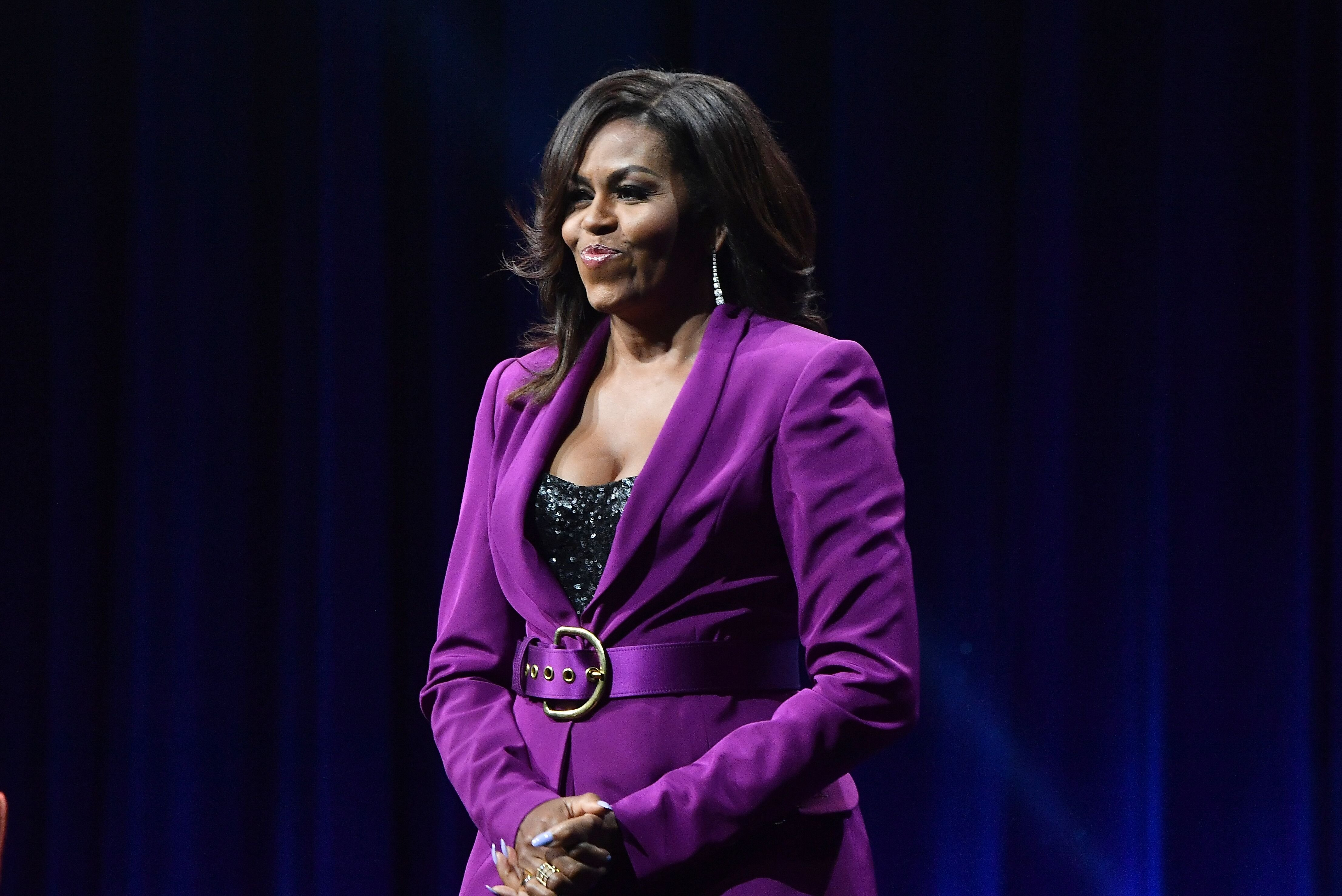 """Michelle Obama in Atlanta, on her promotional tour for """"Becoming""""/ Source: Getty Images"""