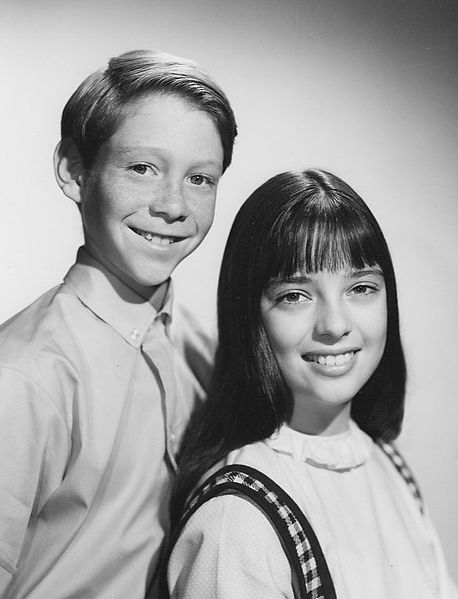 """Billy Mumy and Angela Cartwright from the television program """"Lost in Space."""" 