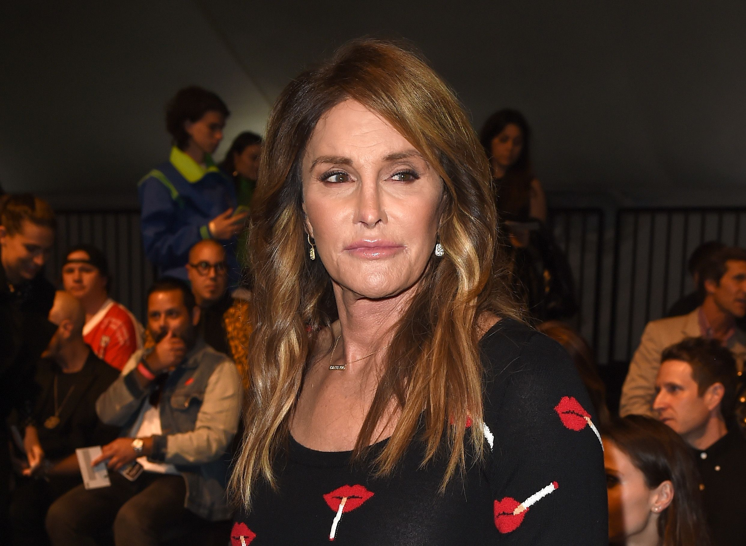 Caitlyn Jenner at the Moschino Spring/Summer 17 Menswear and Women's Resort Collection in 2016 in Los Angeles | Source: Getty Images