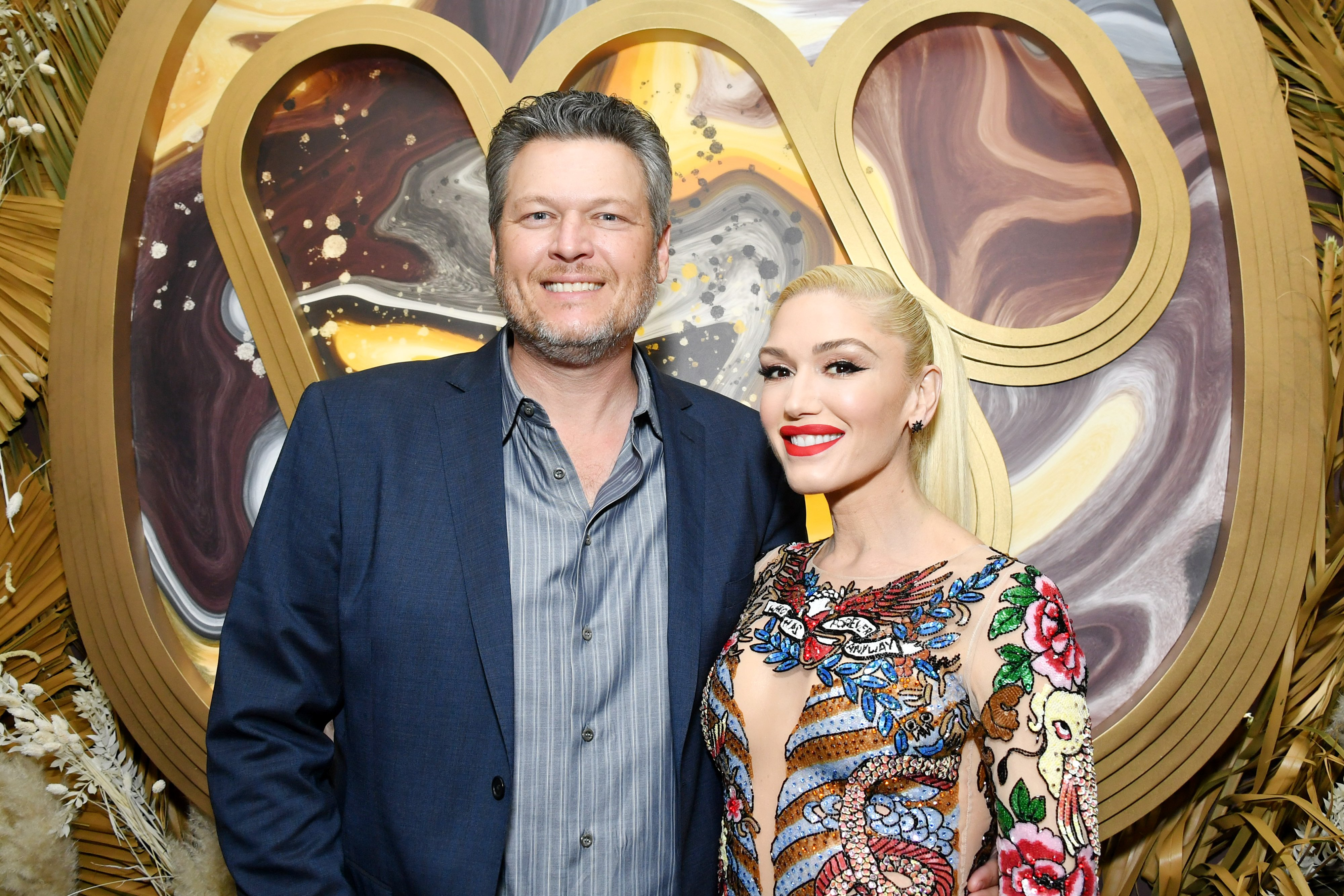 Blake Shelton and Gwen Stefani attend the Warner Music Group Pre-Grammy Party on January 23, 2020, in Hollywood, California. | Source: Getty Images.