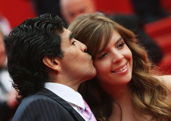 Le footballeur Diego Maradona et sa fille Giannina | Photo : Getty Images