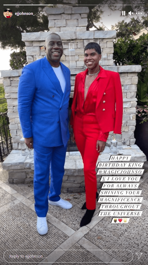 Magic Johnson and his son, EJ posing together for a picture | Photo: Instagram/ejjohnson_