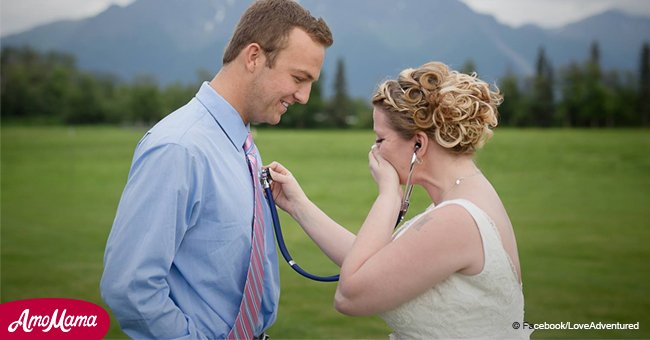 Mother surprised on wedding day by man who received late son's heart