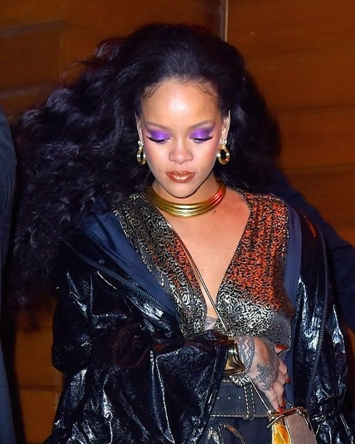 Rihanna at the 1-Oak Nightclub following the 2018 Grammy Awards on January 28, 2018 in New York City | Source: Getty Images/GlobalImagesUkraine