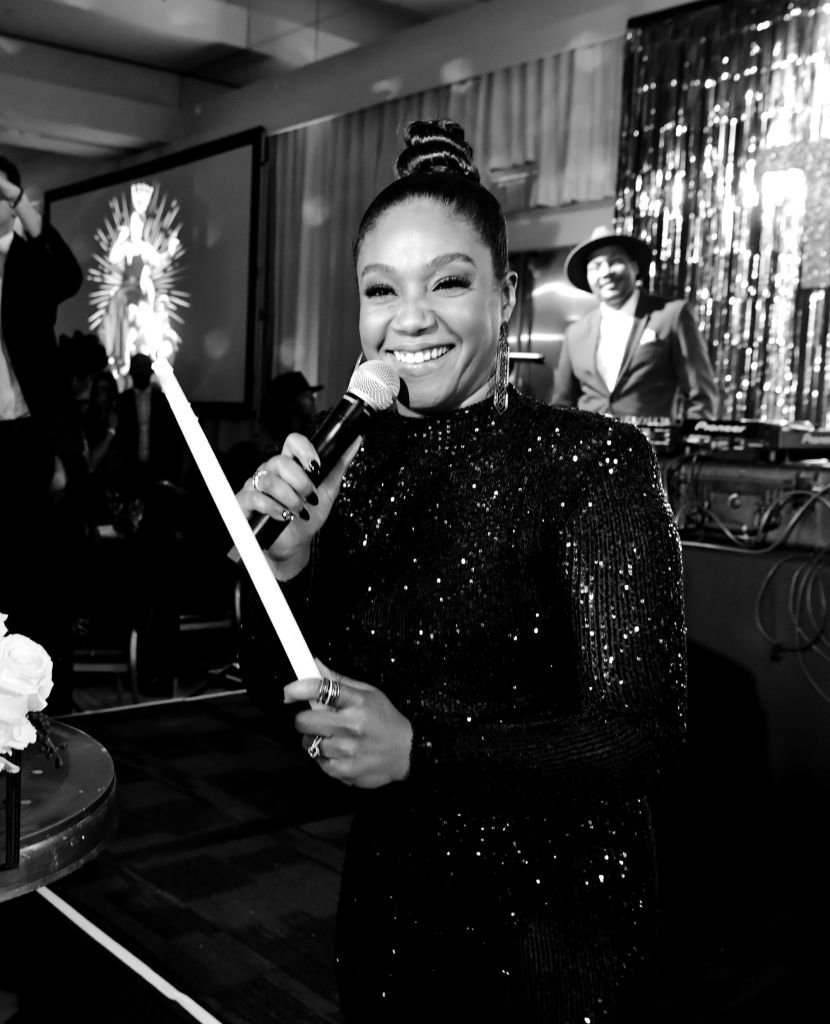 "Tiffany Haddish during her ""Black Mitzvah"" party to celebrate her 40th birthday on December 3, 2019. 