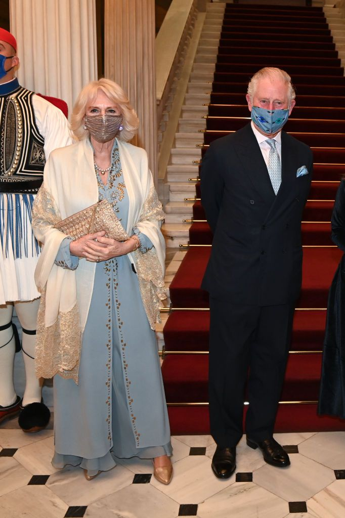 Prince Charles, Prince of Wales and Camilla, Duchess of Cornwall attend a dinner and reception hosted by Her Excellency the President of the Hellenic Republic, Mrs. Katerina N Sakellaropoulou at the Presidential Mansion on March 24, 2021   Getty Images