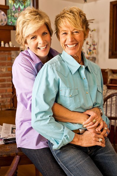 Meredith Baxter with wife Nancy Locke | Image: Getty Images