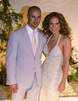 Jennifer Lopez and her husband, dancer Cris Judd attend the grand opening of her new restaurant, Madres April 12, 2002, in Pasadena, CA. | Source: Getty Images.