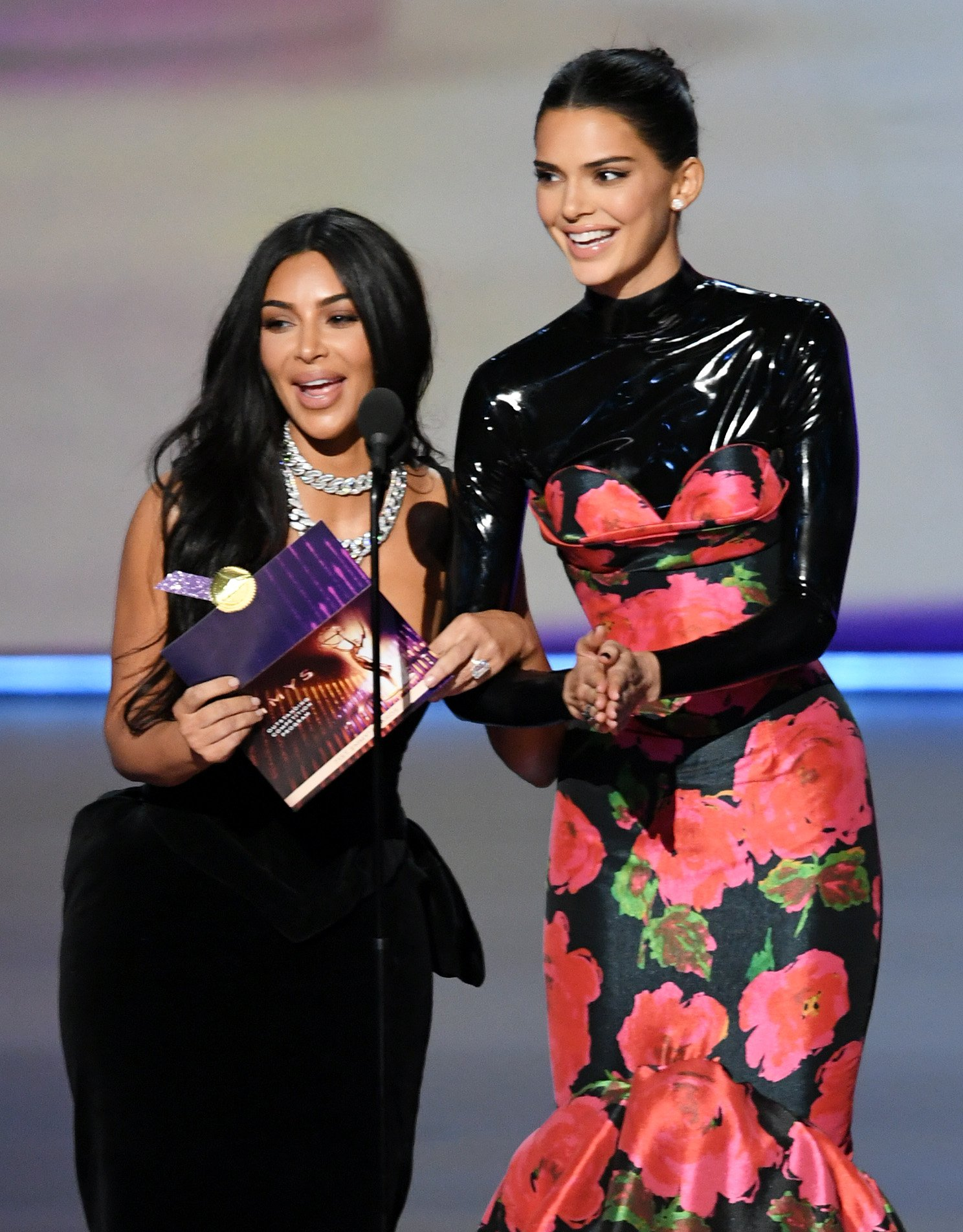 Kim Kardashian and Kendall Jenner onstage at the 71st Emmy Awards in Los Angeles, California on September 22, 2019 | Photo: Getty Images