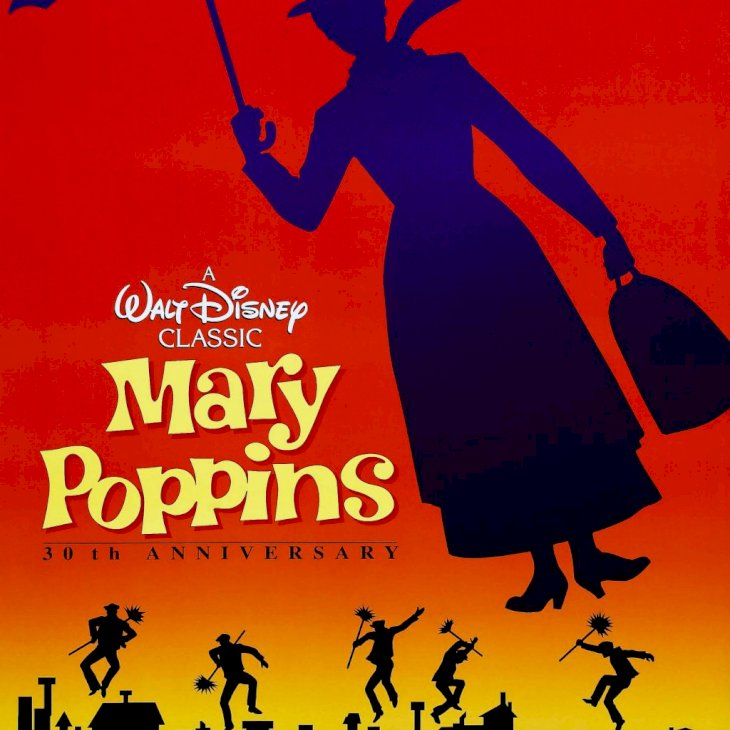 Mary Poppins, poster, US poster, 1964. (Photo by LMPC via Getty Images)