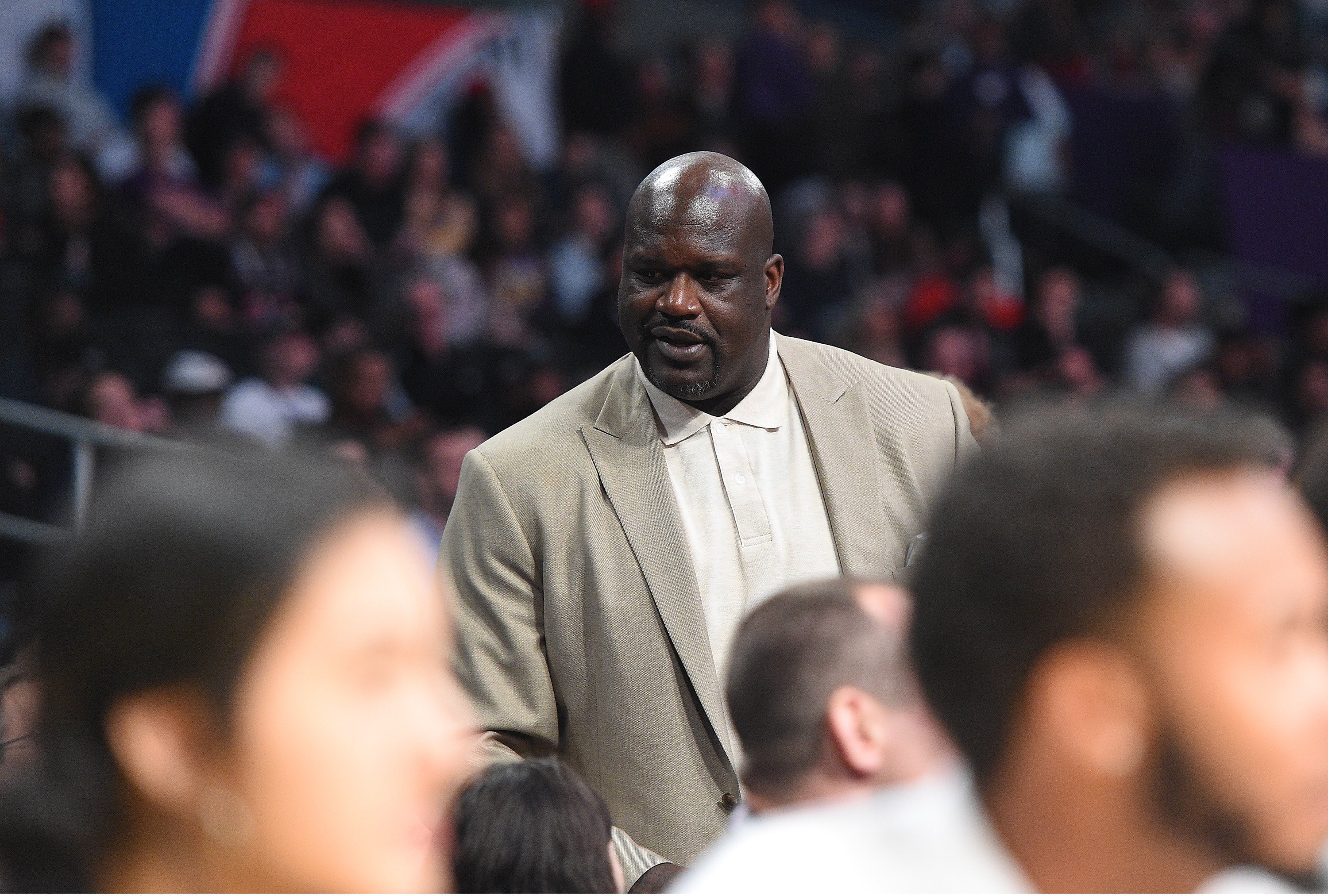 Shaquille O'Neal assiste au match des Rising Stars 2018 de Mountain Dew Kickstart au Staples Center le 16 février 2018. | Photo : GettyImages