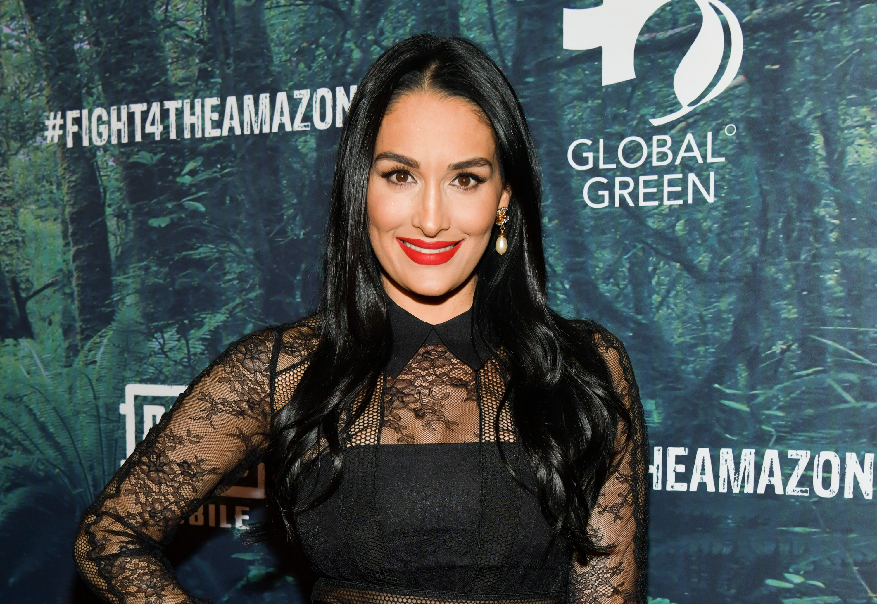 Nikki Bella at the PUBG Mobile's #FIGHT4THEAMAZON Event at Avalon Hollywood on December 09, 2019 | Photo: Getty Images