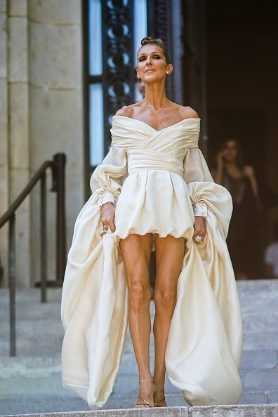 Celine Dion during Paris Fashion Week -Haute Couture Fall/Winter 2019/2020, on July 02, 2019 in Paris, France | Photo: Getty Images