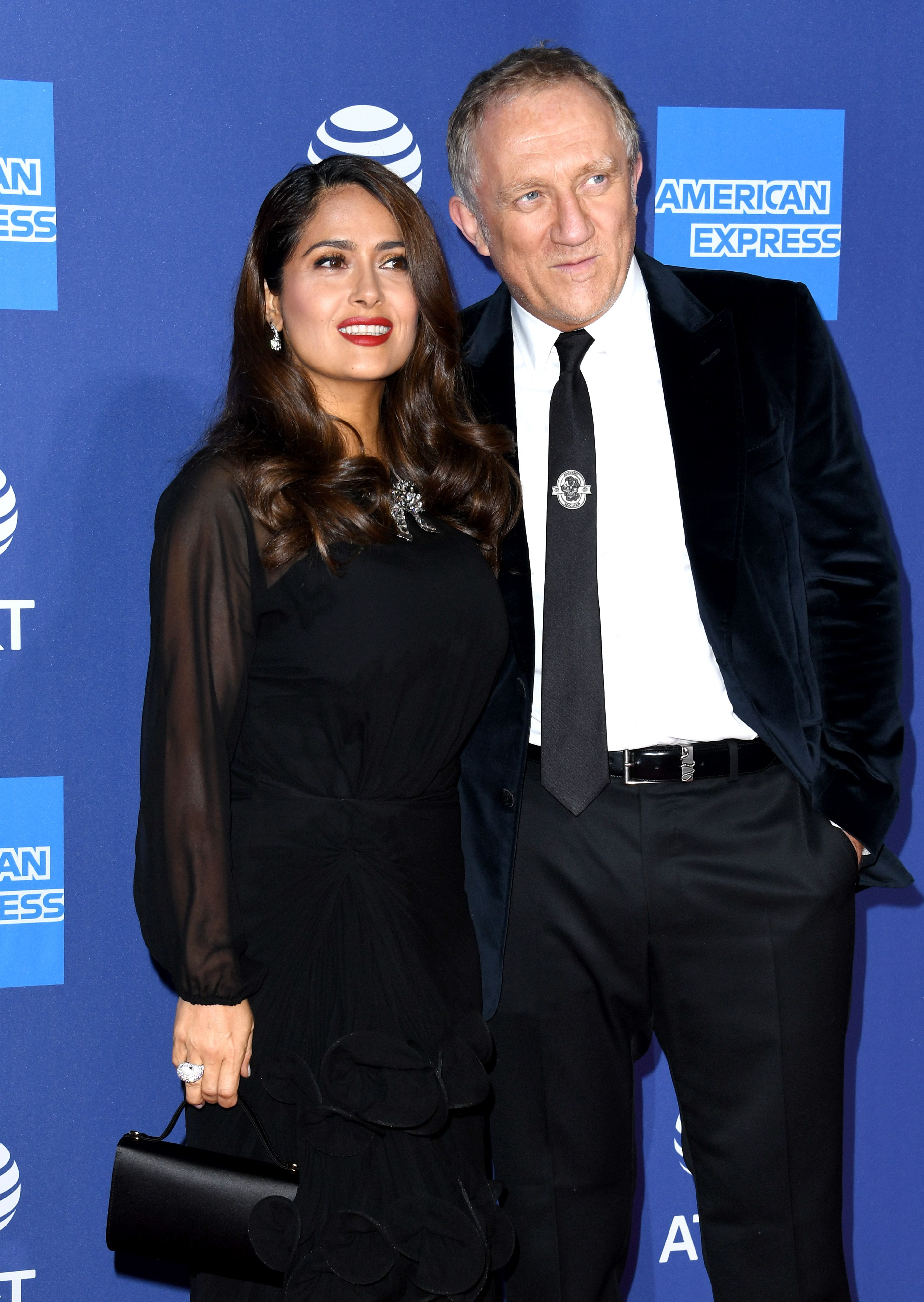 Salma Hayek and François-Henri Pinault during the 31st Annual Palm Springs International Film Festival Film Awards Gala at Palm Springs Convention Center on January 02, 2020 in Palm Springs, California. | Source: Getty Images