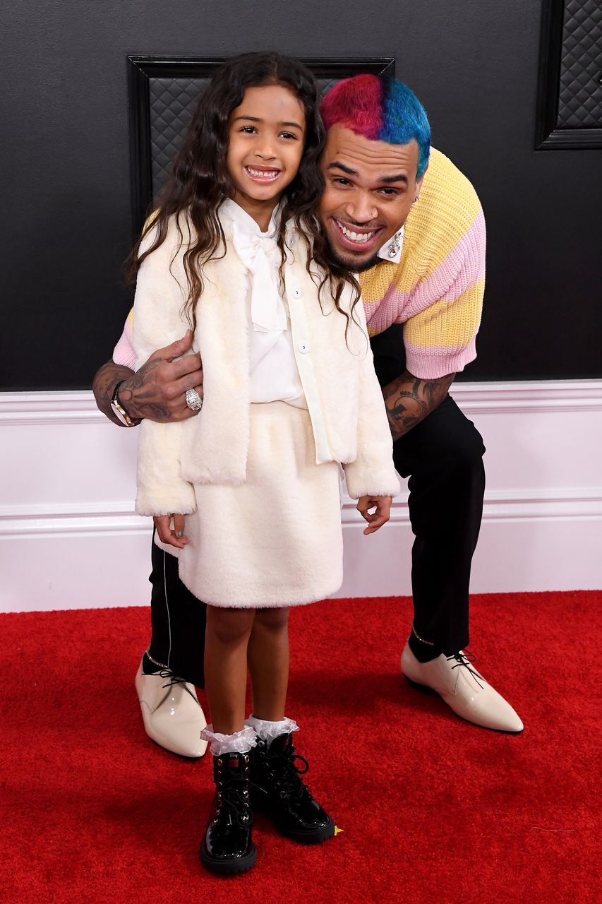Royalty Brown and Chris Brown during the 62nd Annual Grammy Awards at Staples Center on January 26, 2020 in Los Angeles, California. | Source: Getty Images