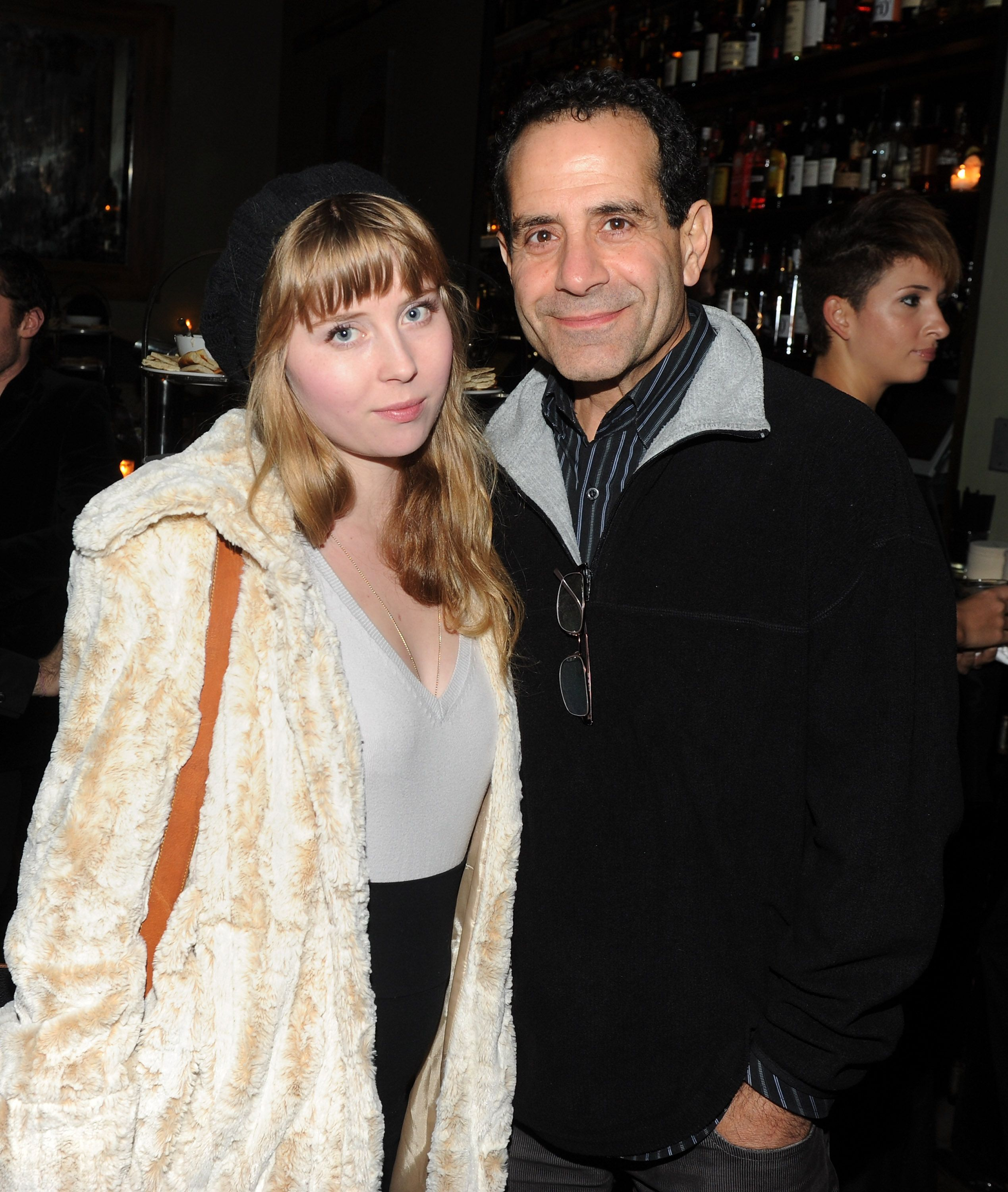 "Tony Shalhoub with daughter Josie at the after party for the Cinema Society & Sony Pictures Classics screening of ""Made In Dagenham"" in  2010 in New York City 