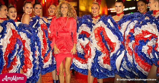 Céline Dion à la crinière de lionne fait une petite danse au Moulin Rouge (Vidéo)