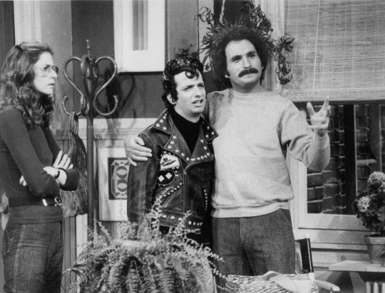 "Marcia Strassman, Ron Palillo, and Gabe Kaplan in a scene from ""Welcome Back, Kotter."" 