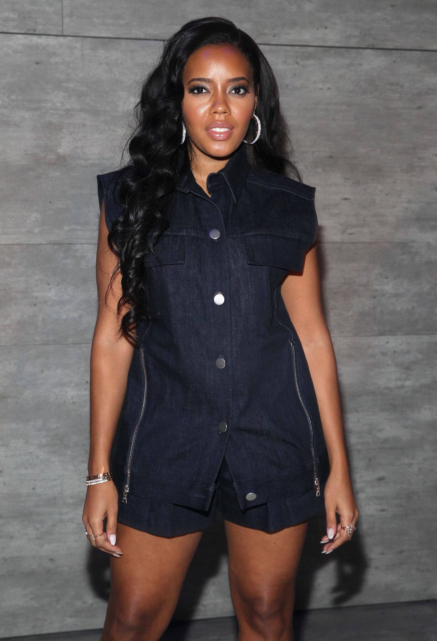 Angela Simmons attends the Charlotte Ronson fashion show during Mercedes-Benz Fashion Week Fall 2015 l Getty Images